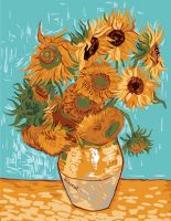Canvas: Royal Paris: Sunflowers By Van Gogh