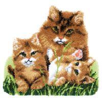 Vervaco Rug Kit Cat Family