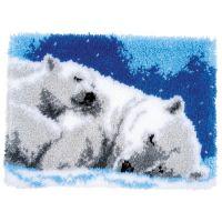 Vervaco Rug Kit Ice Bears