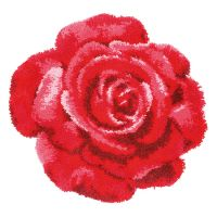 Vervaco Rug Kit Red Rose