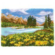 Vervaco Rug Kit Mountain Landscape