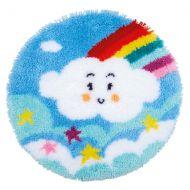 Vervaco Rug Kit Little Rainbow Cloud