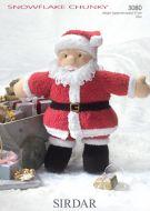 Sirdar Leaflet No 3080 Santa Toy