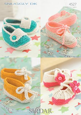 Sirdar leaflet No 4527 Baby Boots