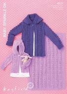 Sirdar leaflet No 4537 Baby Sparkle Jackets