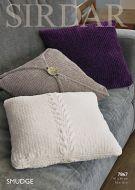 Sirdar Leaflet No 7867 Smudge Cushions