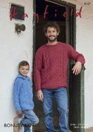 Sirdar Leaflet 8167 Mens Aran Sweater