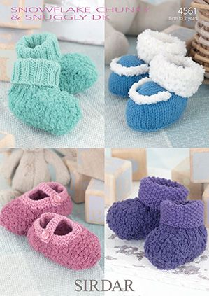 Sirdar leaflet No 4561 Baby Booties