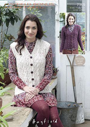 Sirdar Leaflet No 7369 Aran Tweed Ladies Cardigan