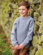 Sirdar Leaflet 2507 Boys Aran Sweater