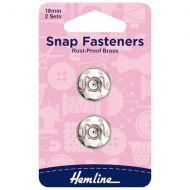 Snap Fasteners - Nickel - 18mm
