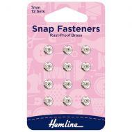 Snap Fasteners - Nickel - 7mm