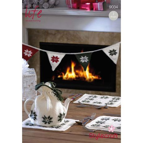 Stylecraft Leaflet 9034 Knitted Christmas Bunting