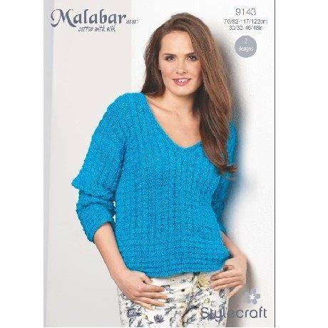 Stylecraft Leaflet 9143 Malabar Aran Jumper