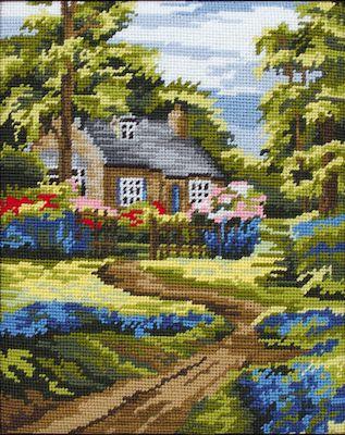 Anchor Spring Scene Tapestry Kit.