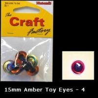 Eyes Amber 15mm