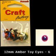 Eyes Amber 12mm