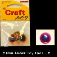 Eyes Amber 21mm