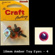 Eyes Amber 18mm