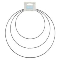 Craft Hoops: Metal: 15-25cm: 3 Sizes: Silver