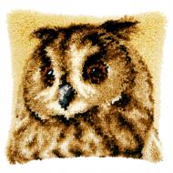 Vervaco  Brown Owl Latch  Hook  Cushion Kit
