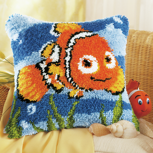 Vervaco Nemo Latch Hook Cushion Kit The Crafters Basket Craft