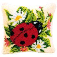 Vervaco  Ladybird Latch  Hook  Cushion Kit