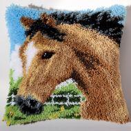 Vervaco  Horse Latch  Hook  Cushion Kit