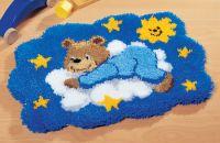 Latch Hook Kit: Rug: Bear on Cloud