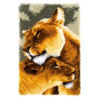 Latch Hook Kit: Rug: Lion Friendship