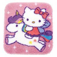 Latch Hook Kit: Rug: Hello Kitty and Unicorn