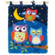 Latch Hook Kit: Rug: Owls in the Night