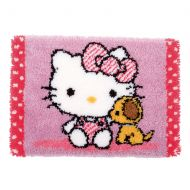 Latch Hook: Rug: Hello Kitty with Dog