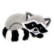 Latch Hook Kit: Shaped Rug: Raccoon