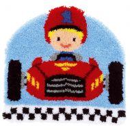 Latch Hook Kit: Rug: Shaped: Race Car