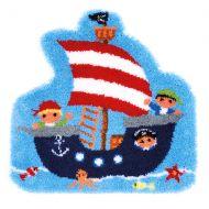 Latch Hook Kit: Shaped Rug: Pirate Ship