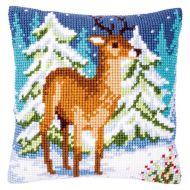 Cross Stitch Kit - Cushion - Deer in Winter