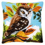Cross Stitch Kit - Cushion - Owl in the Bushes