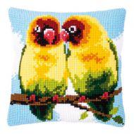 Cross Stitch Kit - Cushion - Lovebirds