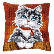 Cross Stitch Kit - Cushion - Cat With Collar