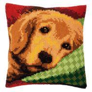Cross Stitch Kit - Cushion - Sleepy Little Dog
