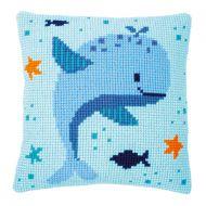 Cross Stitch Kit - Cushion - Whales Fun