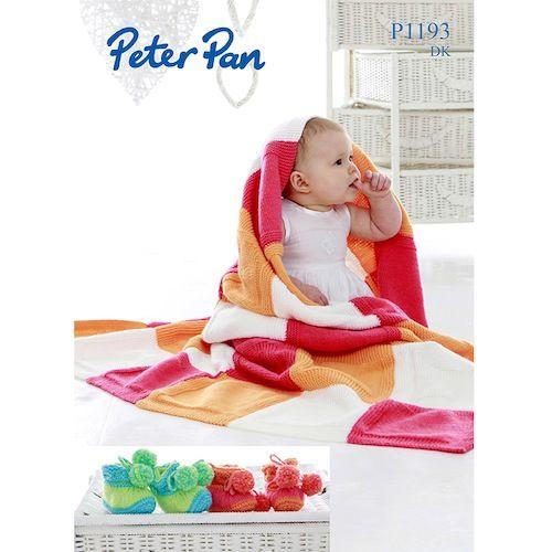 Peter Pan Leaflet P1193 Blanket  & Booties