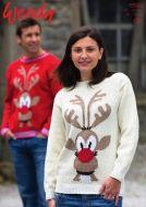 Wendy Leaflet 5594 Reindeer Jumper