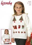 Wendy Leaflet 5596 Girls Tree Sweater