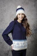 Knitting Pattern - Christmas Sweater & Hat - 9308